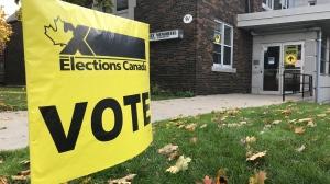 This election sign seen on Oct. 21, 2019. (Dan Lauckner / CTV Kitchener)