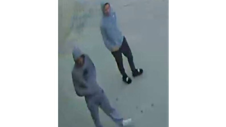 Windsor police released a photo of two suspects believed to have committed the physical attack. (Courtesy Windsor police)
