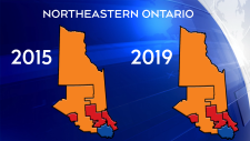 No federal party changes in northeastern Ontario
