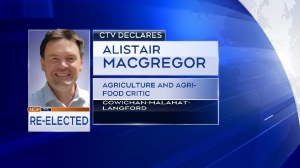 CTV news is predicting that NDP's incumbent MP Alistair MacGregor has won the Cowichan-Malahat-Langford riding: 8:50 p.m. (CTV News)