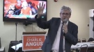 Timmins James Bay NDP incumbent Charlie Angus speaks to supporters after being re-elected for a 6th term. (Lydia Chubak/CTV Northern Ontario)