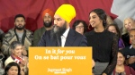 NDP Leader Jagmeet Singh speaks from Burnaby, B.C.