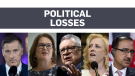 Major political losses across Canada