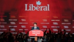 Liberal Leader Justin Trudeau delivers his speech in Montreal, on Tuesday, October 22, 2019. THE CANADIAN PRESS/Paul Chiasson