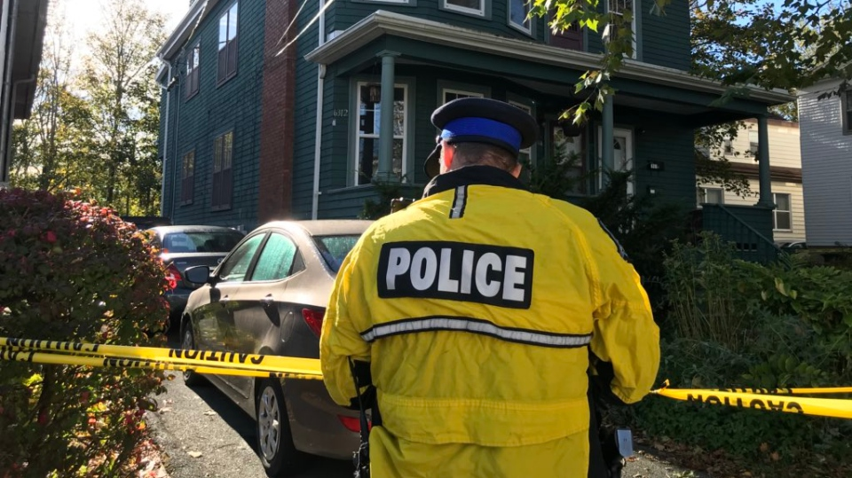 Halifax Regional Police respond to a suspicious death on Willow Street on Oct. 22, 2019. (Natasha Pace/CTV Atlantic)
