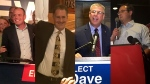(From left to right) Conservative Chris Lewis, NDP Brian Masse, Conservative Dave Epp and Liberal Irek Kusmierczyk. (CTV Windsor)