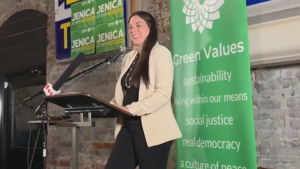 Newly-crowned Fredericton MP Jenica Atwin discusses what it's like to be a woman in the election following her win for the Green Party.