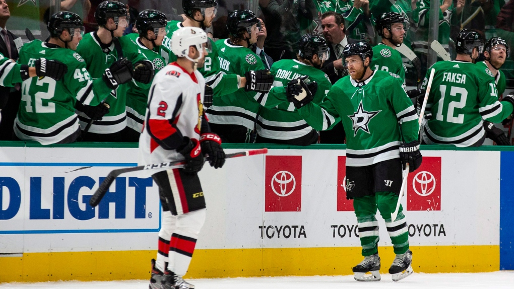 Pavelski's power-play goal helps Dallas Stars beat Ottawa Senators 2-1