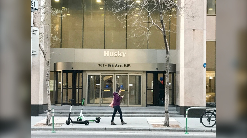 Layoffs are underway Tuesday at Husky Energy in downtown Calgary.