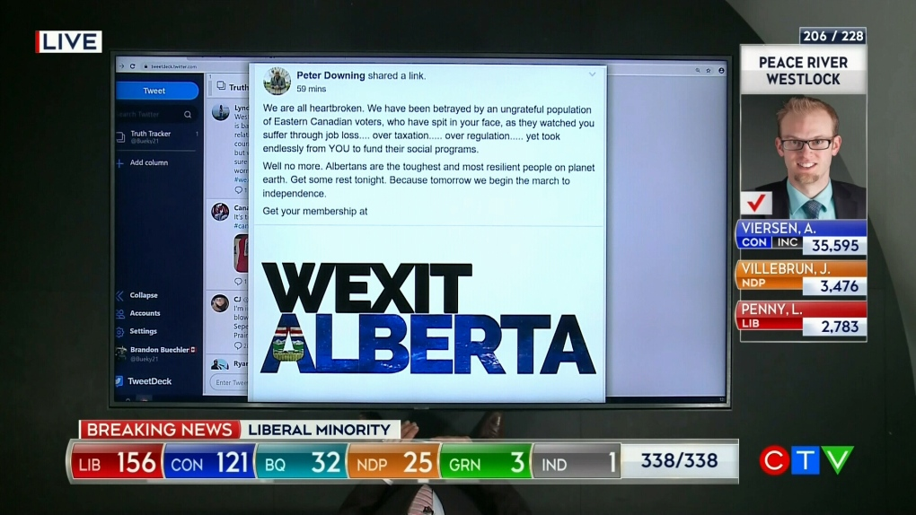 Wexit talk percolates day after Liberals returned to power with minority