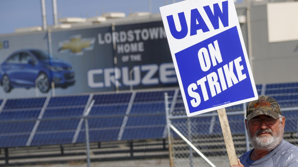Picketing in Lordstown, Ohio