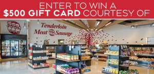Tenderloin Meat and Sausage Banner