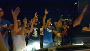 Protesters break into song in Beirut