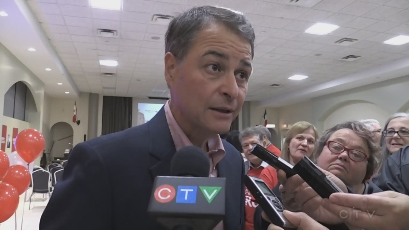 WATCH: Reaction from Nipissing-Timiskaming Liberal incumbent Anthony Rota on his re-election. (Eric Taschner/CTV Northern Ontario)