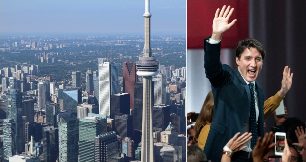 During the campaign, Justin Trudeau spent a number of days in the Greater Toronto Area, making several promises in regards to the issues that matter most to Toronto voters. (The Canadian Press)