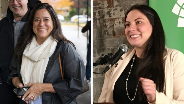 Jody Wilson-Raybould was the first female Independent MP elected federally Monday night, and Jenica Atwin became the Green Party's first-ever elected candidate from outside B.C. by winning a close race in Fredericton, N.B.