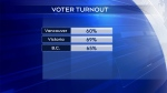 Voter turnout was at 65% in B.C. in the 2019 federal election.