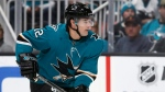 San Jose Sharks center Patrick Marleau skates against the Calgary Flames during the first period of an NHL hockey game in San Jose, Calif., Sunday, Oct. 13, 2019.  THE CANADIAN PRESS/AP, Jeff Chiu