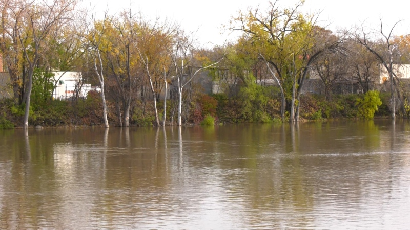 The Red River on Oct. 20, 2019, in Winnipeg.