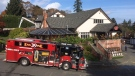 Fire crews respond to the Four Mile House Restaurant on Oct. 22, 2019, (CTV Vancouver island)