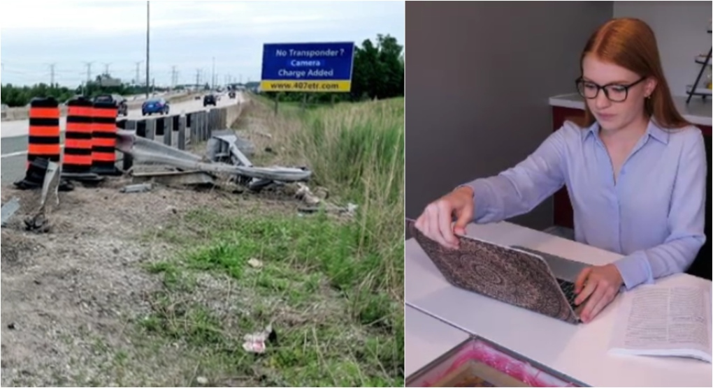 Student shocked to get $17,500 bill for guardrail repairs after crash on Highway 407