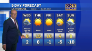 Outlook for Lethbridge weather