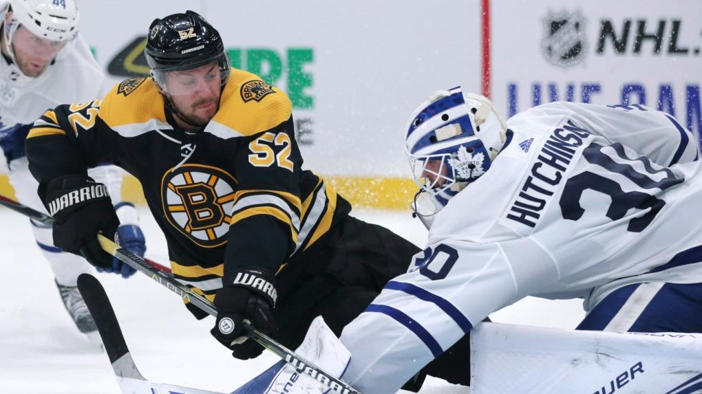 Pastrnak scores 10th, Bruins beat Maple Leafs 4-2