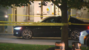 Police are investigating a fatal shooting in front of a condo building near Square One Shopping Centre in Mississauga.