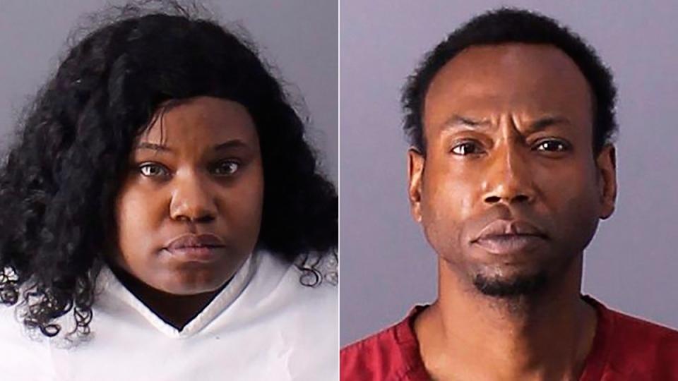 Derrick Irisha Brown, left, and Patrick Devone Stallworth are seen in this composite image. (Birmingham Police Department via AP, File)