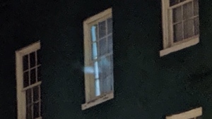 Is that a ghost lurking in a restaurant window?