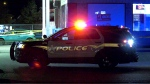 An Esso was behind police tape in Abbotsford Wednesday morning.