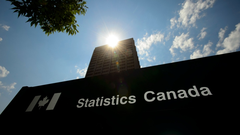 Statistics Canada building and signs are pictured in Ottawa on July 3, 2019. THE CANADIAN PRESS/Sean Kilpatrick