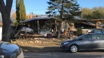 The home where the explosion took place. (Photos: Stephanie Tsicos/CTV News.)