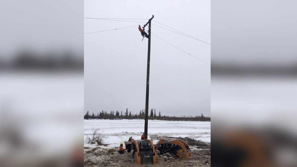 Of the 3,863 poles damaged, 3,540 of them have been replaced. (Source: Manitoba Hydro.)