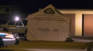 An IHIT tent was set up in a quiet Coquitlam neighbourhood Wednesday morning.