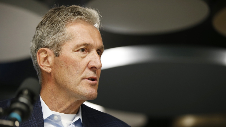 In this file image, Brian Pallister speaks during a press conference in Winnipeg on August 26, 2019. THE CANADIAN PRESS/John Woods