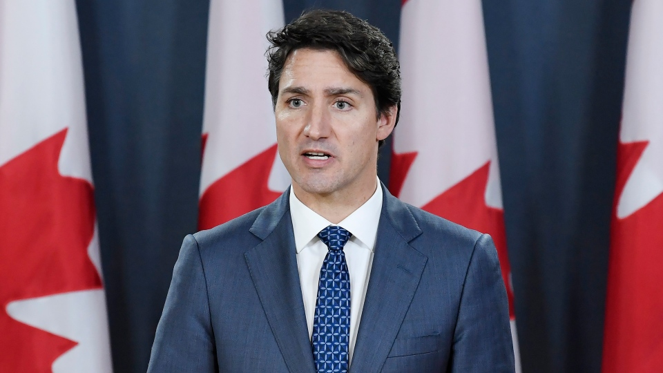 Prime Minister Justin Trudeau addresses the media during a press conference at the National Press Theatre in Ottawa on Wednesday, Oct. 23, 2019. THE CANADIAN PRESS/Adrian Wyld