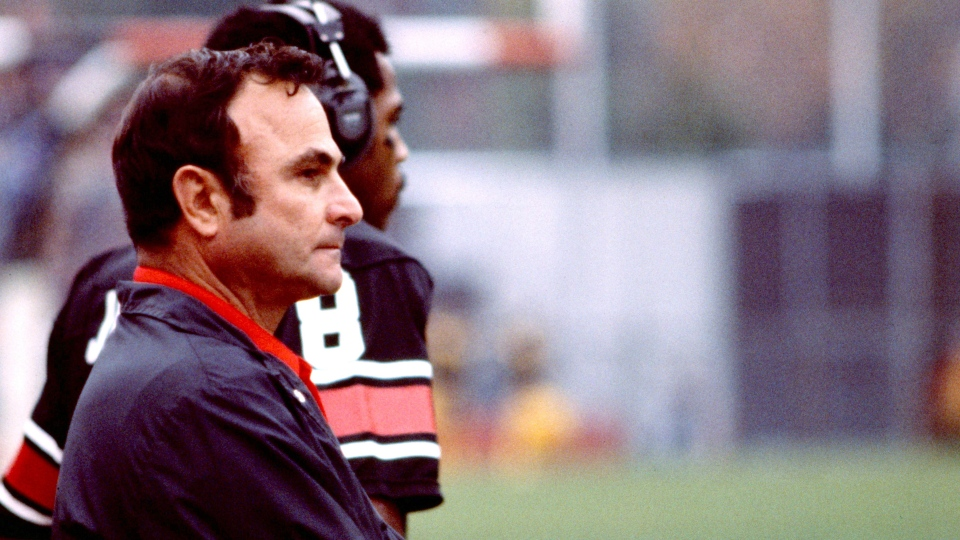 George Brancato is seen in this undated handout photo. George Brancato, who won Grey Cups with the Ottawa Rough Riders as a player, assistant coach and head coach, has died. He was 88. The Redblacks, Ottawa's current CFL team, confirmed Brancato's death in an email Wednesday. (Scott Grant/THE CANADIAN PRESS/HO)