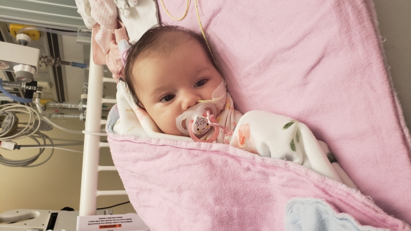 Two-month-old Eva Batista is struggling with spinal muscular atrophy, a deadly neuromuscular disorder that results in progressive muscle wasting and the loss of motor neurons. (Supplied)