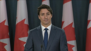 Prime Minister Justin Trudeau speaks to the media after winning a minority mandate in the 2019 federal election. (CTV News)