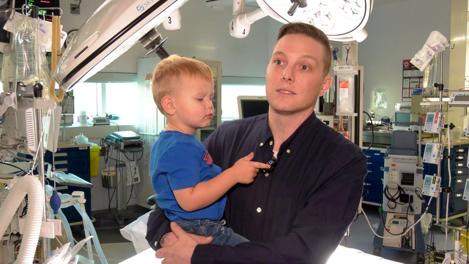 Kolton Dushanek was nearly killed in a motorcycle crash in April, and was saved by surgeons at the Interventional Trauma Operating Room.