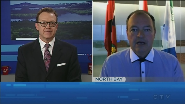 WATCH: CTV Northern Ontario's Tony Ryma talks to North Bay Mayor Al McDonald about Pinty's Grand Slam of Curling competition.