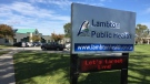Lambton Public Health headquarters in Sarnia, Ont. are seen on Wednesday, Oct. 23, 2019. (Bryan Bicknell / CTV London)