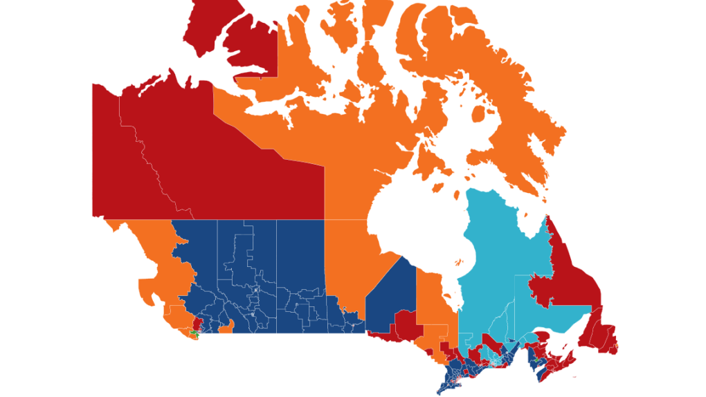 Elections Canada 2015 Map How Canada's electoral map changed after the vote | CTV News