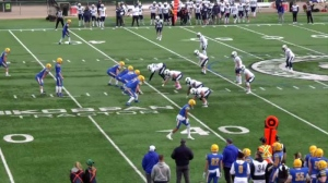 The Saskatoon Hilltops facing the Edmonton Wildcats at SMF Field.