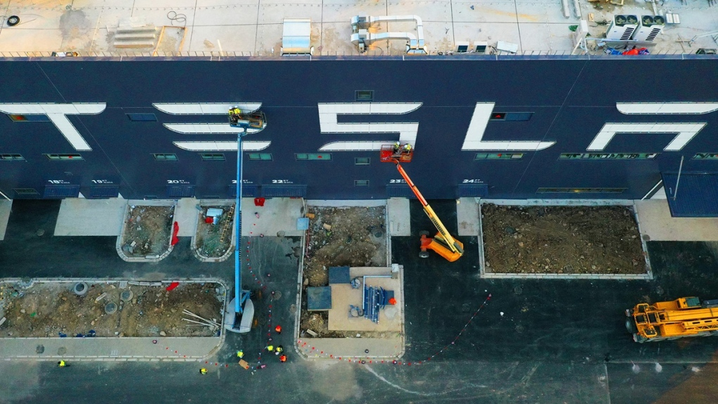 Tesla Gigafactory 3 in Shanghai, China