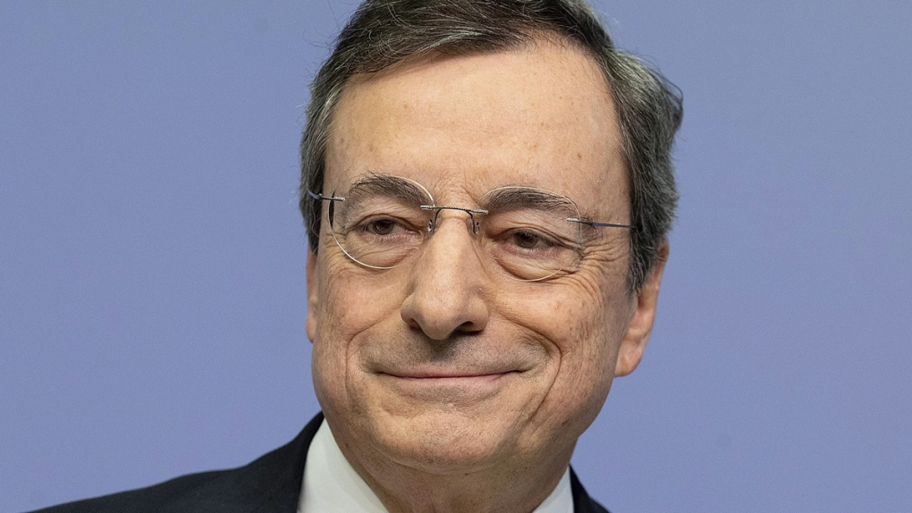 Mario Draghi in Frankfurt, Germany