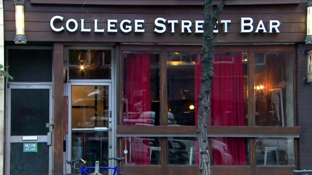 The exterior of the former College Street Bar is seen before it was closed. (CTV News Toronto)