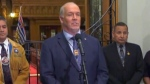B.C. Premier Horgan speaks to reporters
