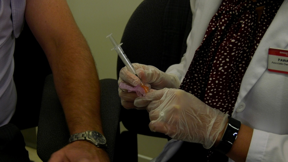 The flu shot destined for Manitoba Health Minister